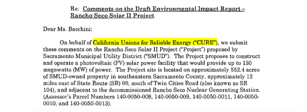 "Sacramento Municipal Utility District (SMUD) Must Heed Unions' CEQA Objections (aka ""Extortion"") on PV Solar Project"